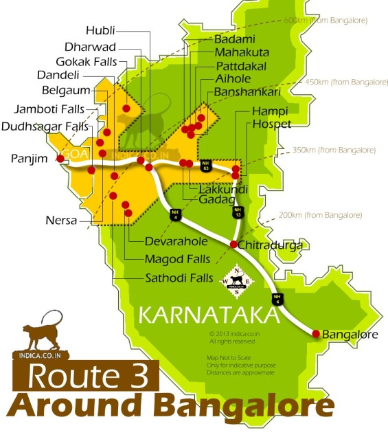 187 Places Near Bangalore Towards Goa